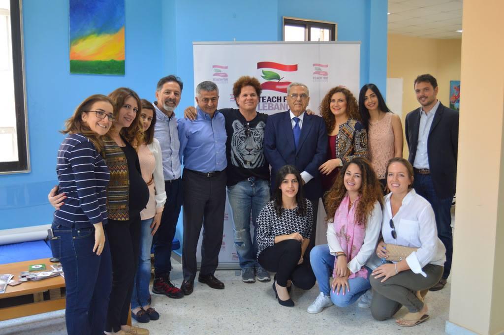 Teach For Lebanon welcomed the Brazilian artist Romero Britto