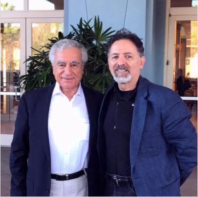 Dr. Joesph Jabbra, President of Lebanese American University and Thomas Abraham