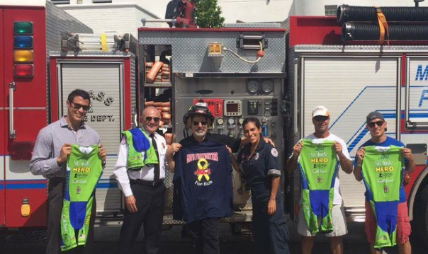 Miami Beach Fire Department for Supporting iAM St. Jude Hero's Tri-Team